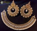 STYLISH GOLDEN BASED WITH ANTIQUE TOUCH NECKLACE SET