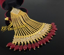 BEAUTIFUL DESIGN GOLDEN BASED LONG CHAIN JHOOMER