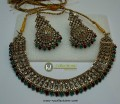 STYLISH GOLDEN WITH ANTIQUE TOUCH DECENT LOOK NECKLACE SET