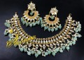 Stunning Look Necklace Set with Kundan Stone and Semi Precious Beads