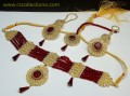 STYLISH TRADITIONAL LOOK WITH SEMI STONES NECKLACE SET