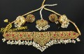 HYDERABADI DESIGN SEMI PRECIOUS STONES GULUBAND NECKLACE SET