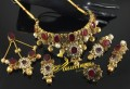 GOLD PLATED ZIRCON SEMI PRECIOUS STONES BRIDAL SET