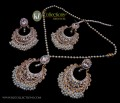 STYLISH TRADITIONAL GOLDEN BASED WITH GAJRA BEATS PENDANT SET