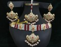 HYDERABADI DESIGN GOLDEN BASED GULUBAND NECKLACE SET