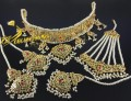 HYDERABADI DESIGN FINE QUALITY HEAVY COLLAR BRIDAL SET
