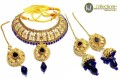STYLISH TRADITIONAL WITH GOLDEN BASED NECKLACE SET