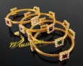 TRADITIONAL LOOK MULTI STONES 4 PIECES BANGLE