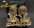 GOLDEN BASED HYDERABADI DESIGN LONG JHUMKI