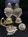 HYDEARBADI DESIGNJHUMKI MATCHING TEEKA AND RING