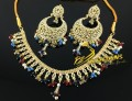 TRADITIONAL LOOK POLKIE STONES MULTI NECKLACE SET