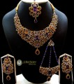 STYLISH ZIRCON WITH GOLDEN BASED COMPLETE BRIDAL SET