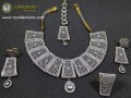 GOLD PLATED WITH ZIRCON INDIAN COMPLETE NECKLACE SET
