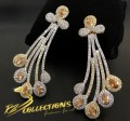 GOLD PLATED ZIRCON INDIAN EARRING