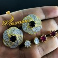 GOLD PLATED ZIRCON SEMI PRECIOUS STONES TOPS