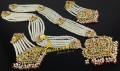HYDERABADI DESIGN GOLDEN BASED NAURATAN LONG MALA SET