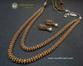TARDITIONAL LOOK GOLDEN BASED 2 LAYERS PEARL INDIAN MALA NECKLACE SET