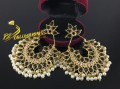 BEAUTFUL DESIGN GOLDEN BASED KUNDAN LOOK EARRING