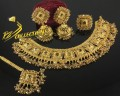 TRADITIONAL LOOK CRYSTALS GAJRA BEATS NECKLACE SET