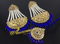 HYDERABADI DESIGN BIG SIZE EARRING MATCHING TEEKA