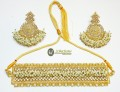 TRADITIONAL LOOK WITH GAJRA STYLE NECKLACE SET