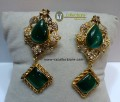 DECENT LOOK GOLD PLATED WITH SEMI STONES EARRING