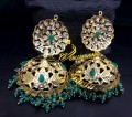 HYDERABADI DESIGN GOLDEN BASED JHUMKI EARRING