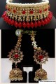 STYLISH HYDERABADI GULUBAND WITH GOLDE BASED NECKLACE SET