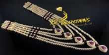 GOLDEN BASED 5 LAYERS CRYSTALS MALA