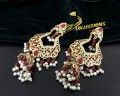 GOLDEN BASED HYDERABADI DESIGN JHUMKI