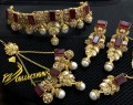 Gold Plated with Semi Precious Stones BRIDAL SET