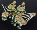 TRADITIONAL LOOK POLKIE STONES EARRING MATCHING TEEKA & JHOOMER