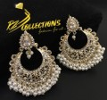 TRADITIONAL LOOK POLKIE STONES GOLDEN BASED GAJRA BEATS EARRING