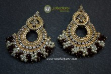 GOLDEN BASED WITH GAJRA BEATS EARRING