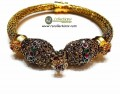 DECENT LOOK GOLD PLATED SEMI STONES BRACELET