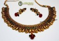 TRADITIONAL LOOK GOLDEN BASED INDIAN NECKLACE SET