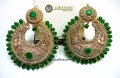 TRADITIONAL LOOK POLKIE STONES GOLDEN BASED EARRING