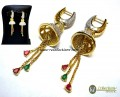 DECENT LOOK GOLD PLATED ZIRCON INDIAN JHUMKI EARRING