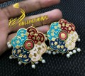 Golden Based Meena Work Big Size TOPS