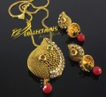 TRADITIONAK LOOK MATCHING CHAIN PENDANT SET