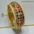 STYLISH GOLDEN BASED WITH HYDERABADI LOOK MULTI COLOUR BANGLE