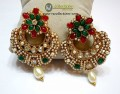 TRADITIONAL LOOK GOLDEN BASED PEARL INDIAN EARRING