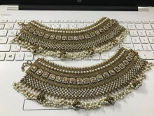 Golden Based Traditional Look Heavy Bridal PAZAIB/ANKLET