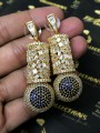 Gold Plated Indian EARRINGS with Fine Zircon Stones