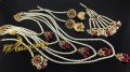 HYDERABADI DESIGN GOLDEN BASED 5 LAYERS LONG MALA BRIDAL SET