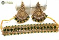 TRADITIONAL LOOK GOLDEN BASED GAJRA BEATS NECKLACE SET
