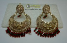 STYLISH TRADITIONAL LOOK WITH POLKIE STONES EARRING