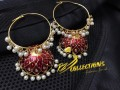 Golden Based Meena Work Bali Style JHUMKA