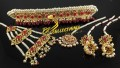 HYDERABADI DESIGN SEMI PRECIOUS STONES BRIDAL SET