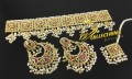 NEW HYDERABADI DESIGN SEMI PRECIOUS STONES GULUBAND SET